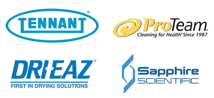 Tennant, Dri-Eaz, Pro-Team, Sapphire Scientific